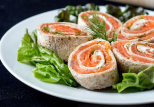 Salmon rollups